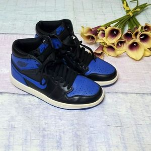 Men's Nike Air Jordan 1 Retro Black Royal Blue